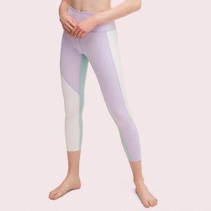 NWT Kate Spade High Rise Color Spliced Leggings